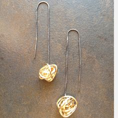 This too, I could dig.  (Nerve Clock Threader Earrings by Jules Schwanbeck)