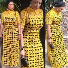 Stunning in Mustard.The beautiful Commissioner for Trade,Oyo State.Princess Taibat Adeyemi Agaba in Bùnmi custom lace t-shirt dress. African Maxi Dresses, African Fashion Ankara, Latest African Fashion Dresses, African Dresses For Women, African Print Fashion, African Attire, African Wear, Ankara Long Gown Styles, Lace Dress Styles