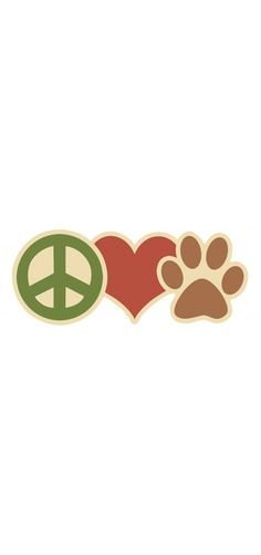 Peace Love Paw Magnet