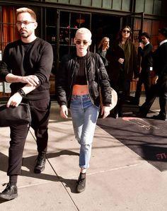 Kristen Stewart seen on the streets of Manhattan on March 9 2017 in New York City
