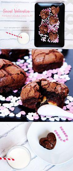 Rien de tel qu'un bon fondant au chocolat pour adoucir le coeur de l'être aimé...Ah si! Un fondant DOUBLE chocolat, bien sûr!