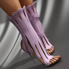 Tamara Stiletto Sandals - Belle Valoure - 1