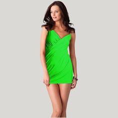 Designer Solid Bikini Vintage One-Piece Beach Dress Summer Bathing suit wrap Playa cubre para arriba el traje de bano HQVB001