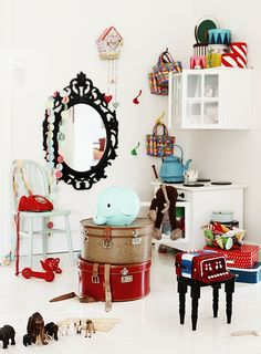 Playtime #photography #styling #playroom #toys #red #white #blue