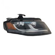 TYC 20-9039-00 | 2010 Audi A4 Chrome/Clear Halo Headlights for Coupe/Sedan/Hatchback/Wagon