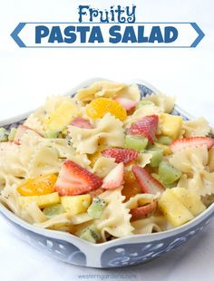 Fruity Pasta Salad.  Simple and fresh, perfect side dish for Mother's Day brunch!