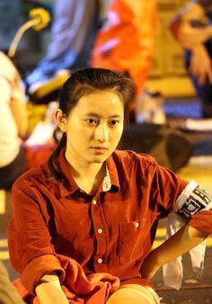Camarada protestante en Taipei, Taiwan.