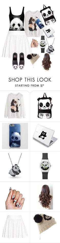 """""""Panda For Life"""" by abandoned-leftpolyvore ❤ liked on Polyvore featuring WALL, Bling Jewelry, Alice + Olivia, KitSound and Y.R.U."""