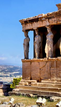 Greece Travel Inspiration - Famous ancient Porch of the Caryatids, Athens, Greece Places Around The World, The Places Youll Go, Places To See, Around The Worlds, Ancient Ruins, Ancient Greece, Ancient History, European History, Ancient Artifacts
