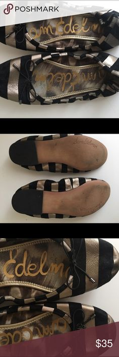8d77846ae70e Shop Women s Sam Edelman Black Gray size Flats   Loafers at a discounted  price at Poshmark.