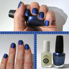 opi russian navy suede  essie matte about you    http://tmblr.co/ZkSvdxKA5lXO