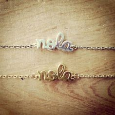 NOLA Script Bracelet