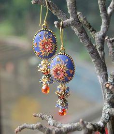 Lavender Skies ... polymer clay earrings