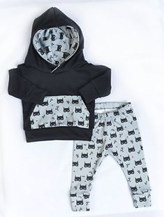 baby hoodie outfit baby boy outfit baby door LittleBeansBabyShop