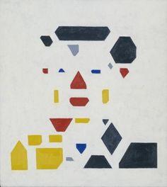 Bart van der Leck (1876-1958) was een Nederlands kunstschilder en vormgever. Vanaf 1910 begon hij een eigen stijl te ontwikkelen die bestond uit gestileerde en vereenvoudigde vormen. Zijn onderwerpen verwerden tot geometrische vormen in primaire kleuren. In Nederland was er in de jaren van de Eerste Wereldoorlog een groepje kunstenaars bezig met (geometrische) abstracte, waaronder Piet Mondriaan en Theo van Doesburg. Deze waren daarom erg geïnteresseerd in het werk van hem.