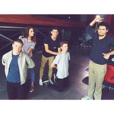 The cast of The Maze Runner. It would be so fun to hang with these guys!