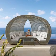 Garden Furniture Unusual hanging bed and canopy for futuristic unusual outdoor furniture