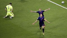 Wesley Sneijder en Arjen Robben