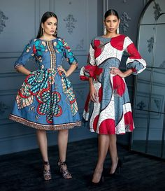 Image may contain: 2 people, people standing African Inspired Fashion, African Print Fashion, Africa Fashion, Ethnic Fashion, African Dresses For Kids, African Print Dresses, African Fashion Dresses, African Attire, African Wear
