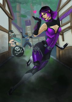 Skye, The Twilight Assassin, from Paladins. I'm not much of a Skye fan as far as gameplay goes. But there's no denying that.