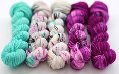Stitch Mischief - Hand dyed yarn, project bags and all the colors! Yarn Inspiration, Hand Dyed Yarn, All The Colors, Merino Wool, Blues, Deep, Stitch, Mini, Projects