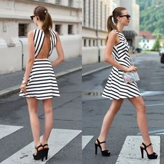 striped dress - bringing sexy back!