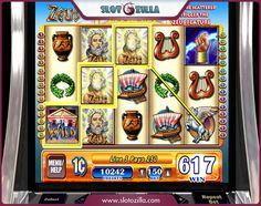 """Play an awesome free slot called """"Zeus"""" powered by @wmsgaming at slotozilla.com"""