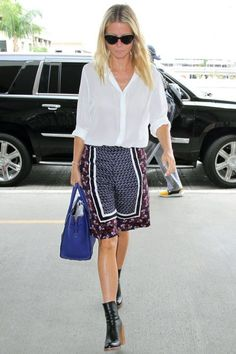 Are Airport Shorts the New In-flight Status Symbol? - Celebrity Street Style
