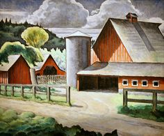 The Farm by Kenjiro Nomura / American Art Successful Home Business, Work From Home Business, Successful Online Businesses, Business Advice, 1930s America, Nostalgia, Japanese American, Asian American, Building An Empire