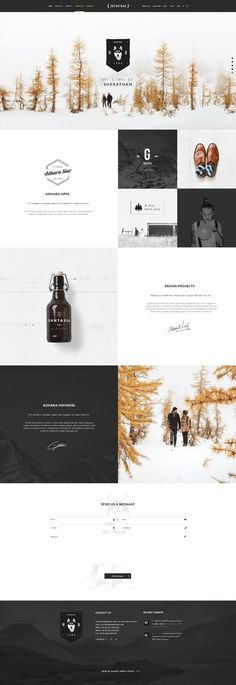 Great use of whitespace to separate and organize each of the elements on the page. Makes images really pop as well.