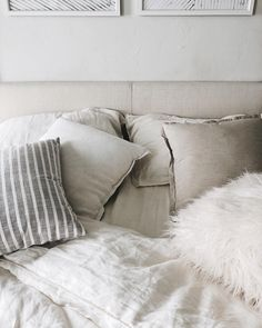 beige pillows