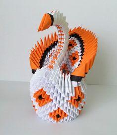Orange Swan by designermetin on DeviantArt 3d Origami Swan, Artisan, Deviantart, Facebook, Orange, Beads, Creative, Crafts, Patterns