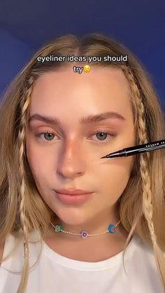 Edgy Makeup, Makeup Eye Looks, Eyeliner Looks, Pretty Makeup, Simple Makeup, Skin Makeup, Makeup Art, Makeup Inspo, Flawless Face Makeup