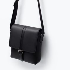 Image 3 of OFFICE MINI MESSENGER BAG from Zara Cool Messenger Bags, Mens Fashion Suits, Womens Fashion, Leather Company, Handbag Stores, Leather Crafts, Men Bags, Designer Bags, Hair Hacks