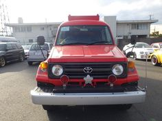 Put your car fire out with this Toyota Landcruiser Fire Truck - Straight from auction here in Japan and now on its way to Canada AUCTION AGENT JAPAN Kobe Japan, Japanese Used Cars, Bmw M6, Japanese Imports, Japan Cars, Engine Types, Fuel Economy, Driving Test