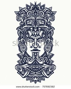 Find Ancient Aztec Totem Mexican God Mayan stock images in HD and millions of other royalty-free stock photos, illustrations and vectors in the Shutterstock collection. Mayan Tattoos, Mexican Art Tattoos, Polynesian Tattoos, Aztec Tattoos Sleeve, Aztec Warrior Tattoo, Totem Pole Tattoo, Tattoo Design Drawings, Tattoo Art, Arm Tattoo