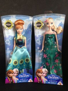2015 Mattel Disney FROZEN FEVER Birthday Party Elsa & Anna Dolls FREE Shipping #Dolls