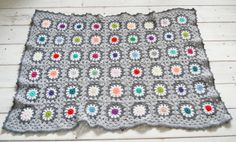 grey crochet blanket