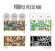 Perf and PCB Effects Layouts: Lovepedal Purple Plexi 800 Diy Guitar Amp, Diy Guitar Pedal, Guitar Effects Pedals, Guitar Pedals, Cool Electric Guitars, Circuit Diagram, Original Music, Music Guitar, Electronics Projects