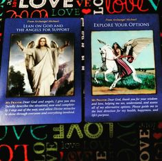 Lean on God and the Angels for Support. Explore Your Options.. (Archangel Michael Oracle Cards by Doreen Virtue)