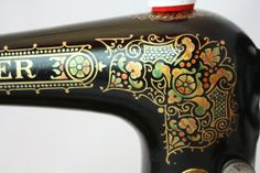 Singer 27~ 1890's Persian Decal closeup