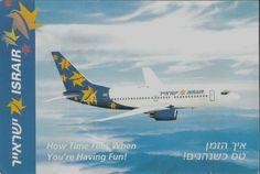 Israir Boeing B737 Postcard