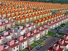 This Is Not A Video Game Or A Lego Model. This Is A Real Neighborhood In Mexico (san Buenaventura Complex)