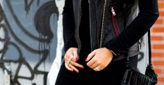 Iro Black Leather Biker Vest, Alexander Wang Dress, Surface to Air 3 Finger Ring- On the blog today