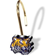 NCAA LSU Tigers Shower Curtain Rings, Set of 12