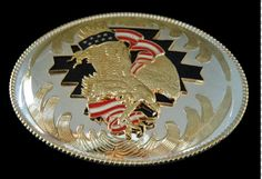 Golden Eagles American Flag Men's Western Belt Buckles #eagle #eagles #eaglebuckle #eaglebeltbuckle #flyingeagle #baldeagle #americaneagle #beltbuckles #coolbuckles #buckle