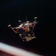 The lunar module separation from command and service module July 20, 1969
