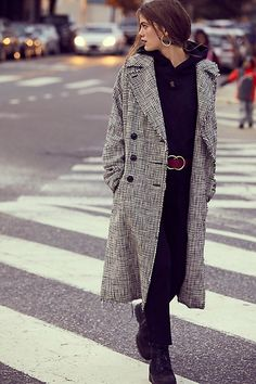 Menswear Plaid Coat