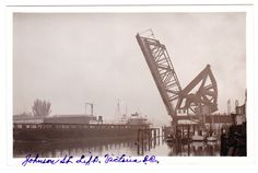 BC – VICTORIA, Johnson Street Bridge, Ship Passing Under c.1930s RPPC Victoria Vancouver Island, Victoria Bc Canada, Vintage Postcards, 1930s, Buildings, Bridge, The Past, Coast, Ship
