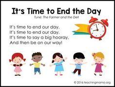 10 fun goodbye songs for preschoolers. Free printable PDF versions of the songs. Goodbye Songs For Preschool, Transition Songs For Preschool, Preschool Transitions, Preschool Music, Preschool Classroom, Preschool Learning, Preschool Activities, Montessori Elementary, Goodbye Song For Kids